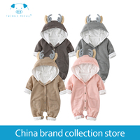 PlayFul100 Romper Baby Clothes Baby Rompers Infant Newborn Baby Girls Clothes Long Sleeves Cotton 40