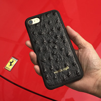 Luxury Ultra Slim Case For Iphone 6s With Cow Leather Back Cover With Ostrich Print With