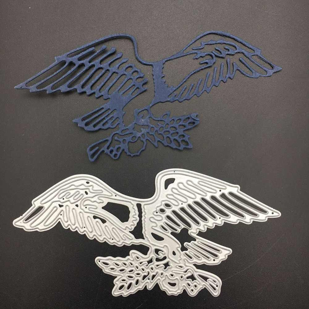 135mmx65mm Metal Steel Cutting Dies Stencil Eagle Wings Shape Design Decor  DIY Scrapbooking Paper Card Embossing Die Template