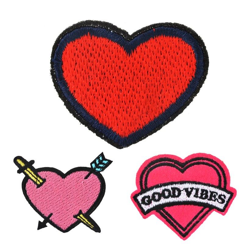 Diy Handmade Embroidered Patch: Aliexpress.com : Buy 15pcs Handmade Embroidered Heart
