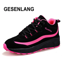Купить с кэшбэком 2019 Women's Running Shoes Breathable Comfortable Sports Shoes Ladies Height Increasing Tourism Outdoor Trail Walking Shoes Hot