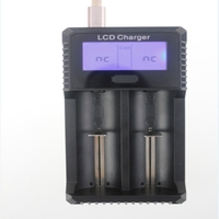 GTF LCD Intelligent USB Charger LCD Smart Battery charger for 26650 18650 18500 18350 17670 16340 14500 10440 3.7V lithium batte