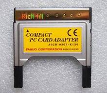 Placa de encaixe para cartão cf, adaptador compacto para placa de pc a02b-0303-k150