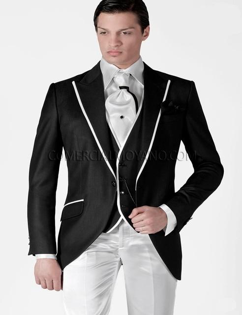 Aliexpress.com : Buy New Arrival Black Jacket and white Pants Men ...