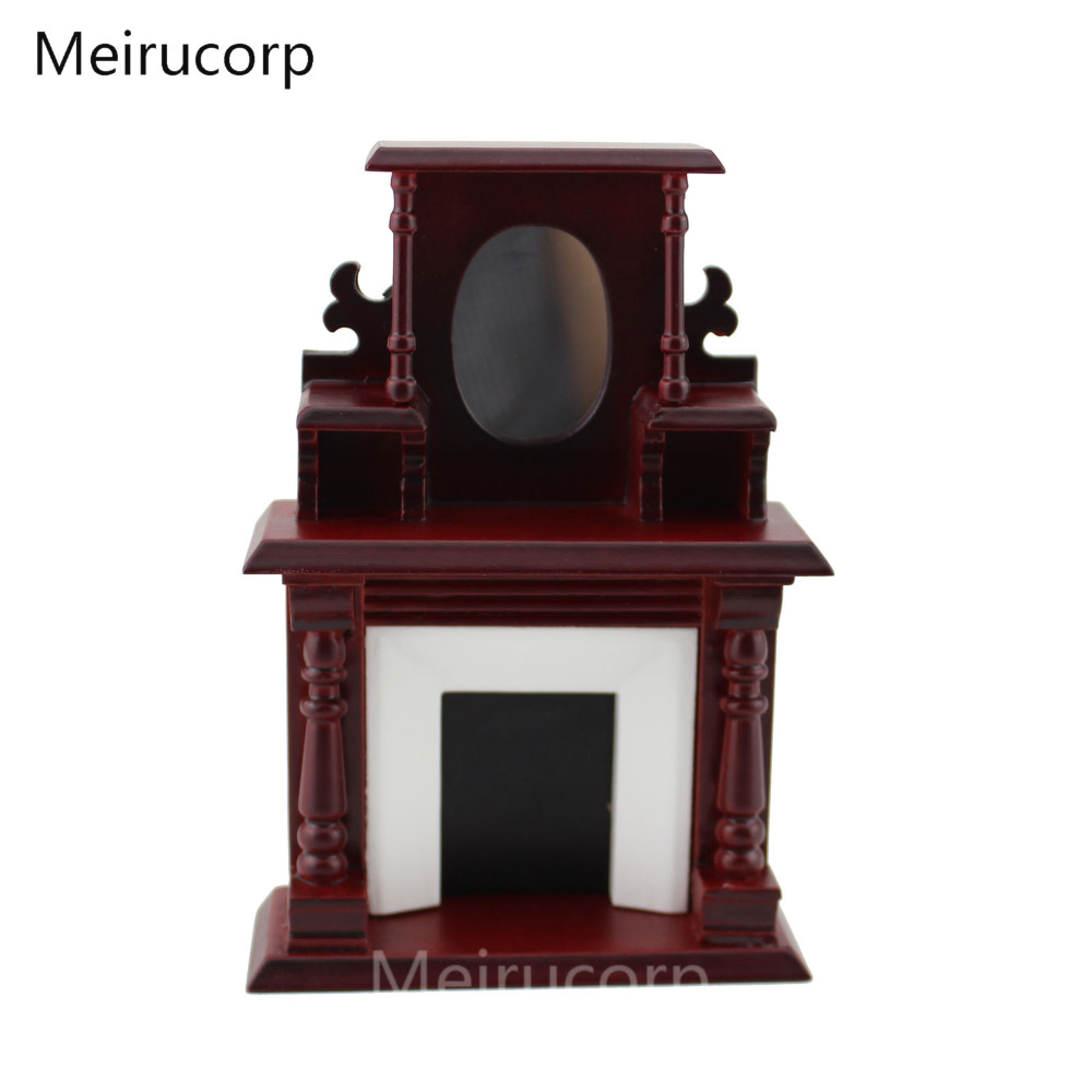 meirucorp Dollhouse 1/12 Scale Miniature furniture Classic fireplace цена