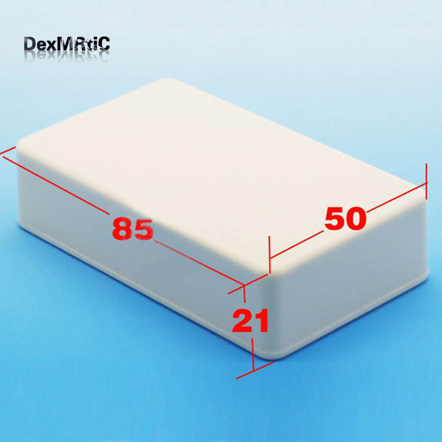 5X White Plastic Electronics Project Box Junction Enclosure DIY 85X50X21mm NEW e cap aluminum 16v 22 2200uf electrolytic capacitors pack for diy project white 9 x 10 pcs