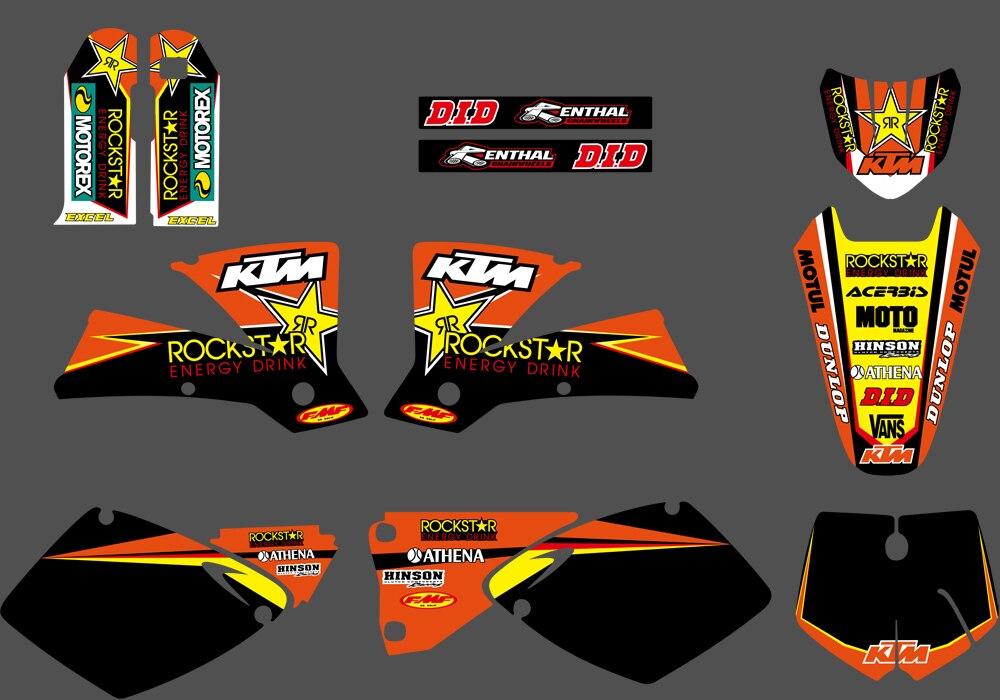2001 2002 KTM EXC 125 200 250 300 380 400 520 GRAPHICS KIT DECO ...