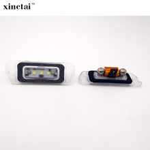 2PCS Bright White LED License Plate Light for Mercedes/Benz/AMG for ML63 R350 R320 R500 X164 W164 W251 2006 2008 2009 2011 2012