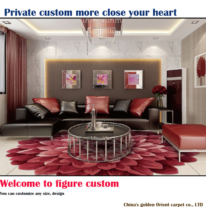 New Zealand pure wool hand carpeted futon carpet in the living room table of the study round big flowers customization