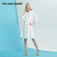 Chu Sau Beauty 2018 Women Dress New Fashion Casual Ukraine Vestidos Above Knee Mini O Neck