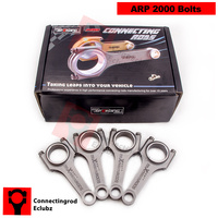 Forged Connecting Rods For 90 97 Honda F22 SOHC Accord 2 2L 142mm ARP2000 22mm Pin