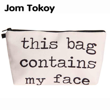 Jom Tokoy Heat Transfer Printing Cosmetic Bag Fashion Women Brand makeu