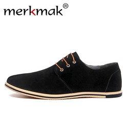 Merkmak Large Size 38~50 Genuine Leather Shoes Brand Men Casual Shoes Luxury Elegant Mens Dress Shoes Business Office Patchwork