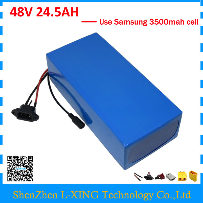 Free customs duty 48V 24.5AH battery 2000W 48V 24.5AH ebike battery 48V Akku use samsung 3500mah cell 50A BMS 2A Charger us eu free customs duty high power 1000w ebike battery 48v 25ah 18650 cell with 5a charger 30a bms 48v lithium battery pack