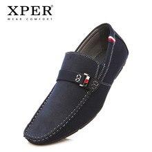 2018 BARU Pria Loafers Musim Panas Musim Semi pria Flats Sepatu memakai Pria Masculino Pria Sepatu kasual nyaman XPER # CE86801BU