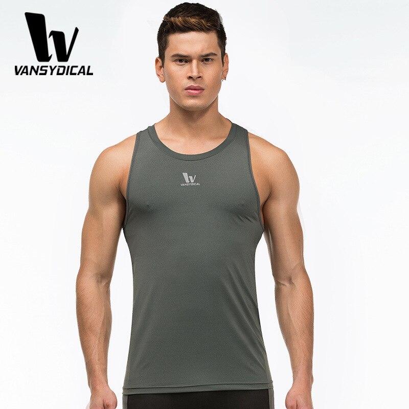 ФОТО Men Sports Fitness Tight Compression Running Basketball Vest Sleeveless Bodybuilding T-shirt Hiking Camping Camisa Masculina