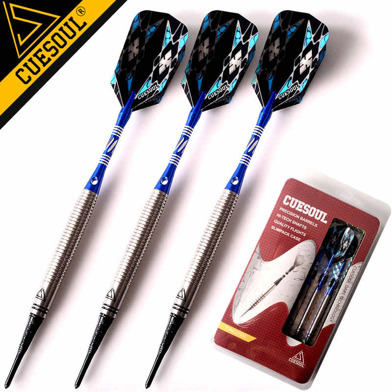 New CUESOUL Darts Tungsten Darts Soft Tip Darts 18g 15cm Electronic Dart With Aluminum Shafts
