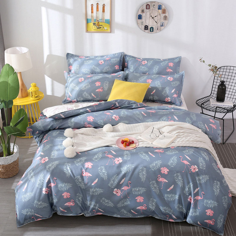 Tropical Plant 4pcs Kid Bed Cover Set Cartoon Duvet Cover Adult Child Bed Sheets And Pillowcases Comforter Bedding Set 2TJ-61003