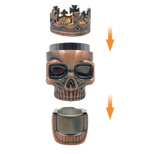 Classic Hot King Skull Metal Herbal Herb Tobacco Grinder Spice Weed Grinders Smoking Pipe Accessories Smoke Cutter