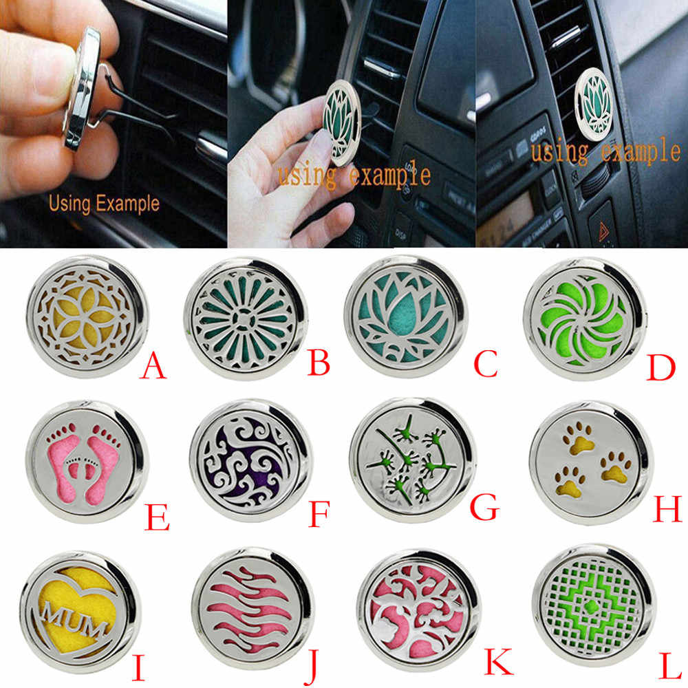 Car Air Freshener น้ำหอม Diffuser คลิปรถ Air Auto Vent Freshener น้ำมันหอมระเหย Locket Decor accesorios automovil dif