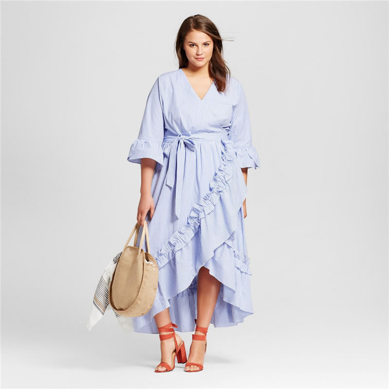 2018 New Plus Size 6XL Women Fat MM Office Uniforms Banquet Costumes Irregular Dress Casual Half Sleeve Solid Party Dresses JT