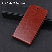 CACACI Grand For Wiko Tommy 2 Coque R64 PU Leather Flip Case Phone Bag Protective Cover