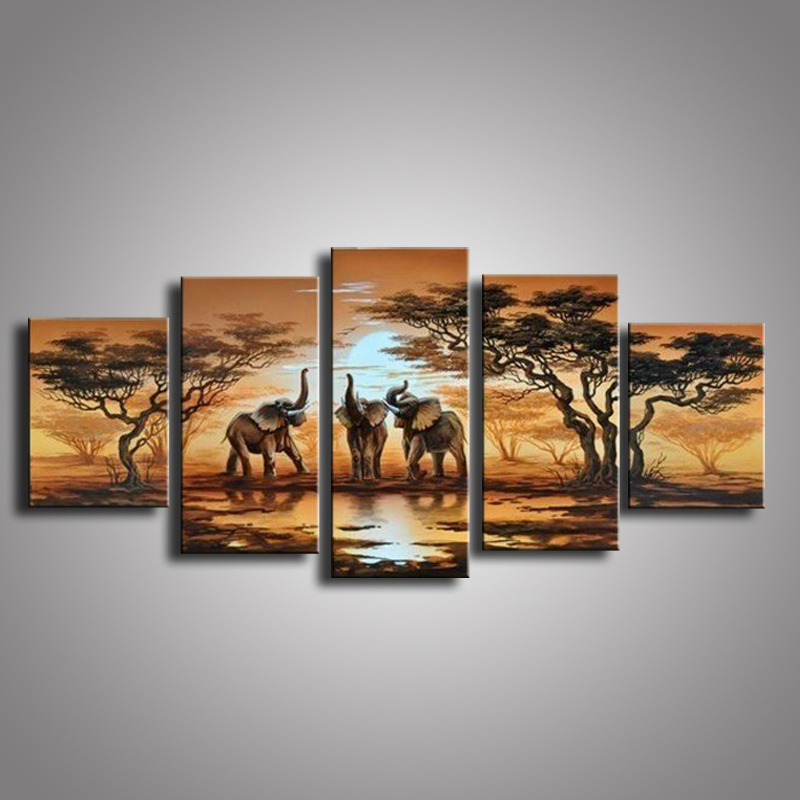 100% Hand painted Oil Paintings on Canvas African Scenery Guaranteed Oil Painting Home Decoration Modern Wall