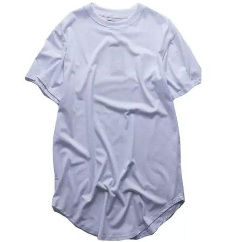 2018 Yaz erkek Genişletilmiş Hip Hop Sokak Temel T-Shirt Sonra Uzun - Erkek Giyim - Fotoğraf 6