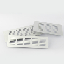 2 шт Ширина алюминиевая вентиляционная решетка вентилятора решетка для шкафа обувной шкаф решетка для кондиционера 100 мм