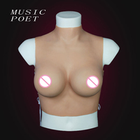 MUSIC POET D Cup Silicone breast form for crossdresser chest for man Realistic touch Feeling Breast enhancer shemale