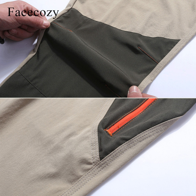 Facecozy Men Summer Breathable Quick Dry Outdoor Sport Pants Elastic Thin Anti-UV Trousers Spring Male Hiking Fishing Long Pants 4