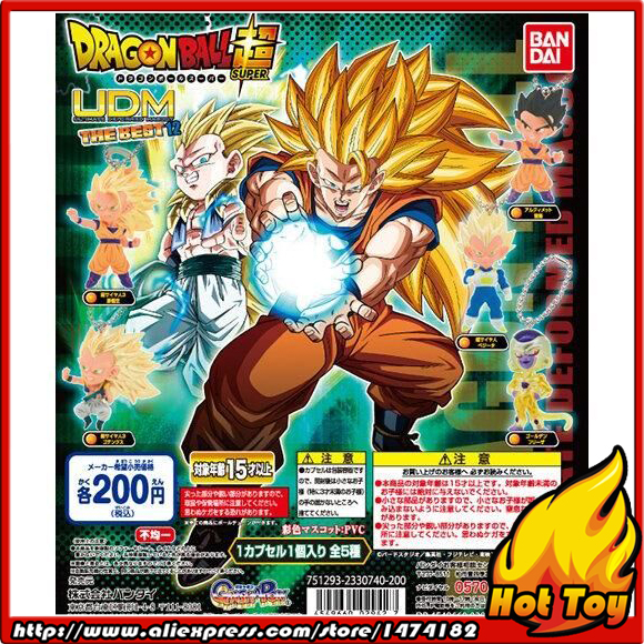 100% Original BANDAI Gashapon PVC Toy Figure UDM THE BEST 12 - Full set of 5 Pieces from Japan Anime Dragon Ball Z original banpresto world collectable figure wcf the historical characters vol 3 full set of 6 pieces from dragon ball z