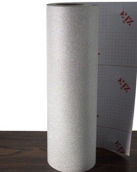 цена на Silver Glitter Self adhesive Wallpaper Peel Sticker Vinyl Decor papel de parede adhesive paper for furniture adesivo de pare