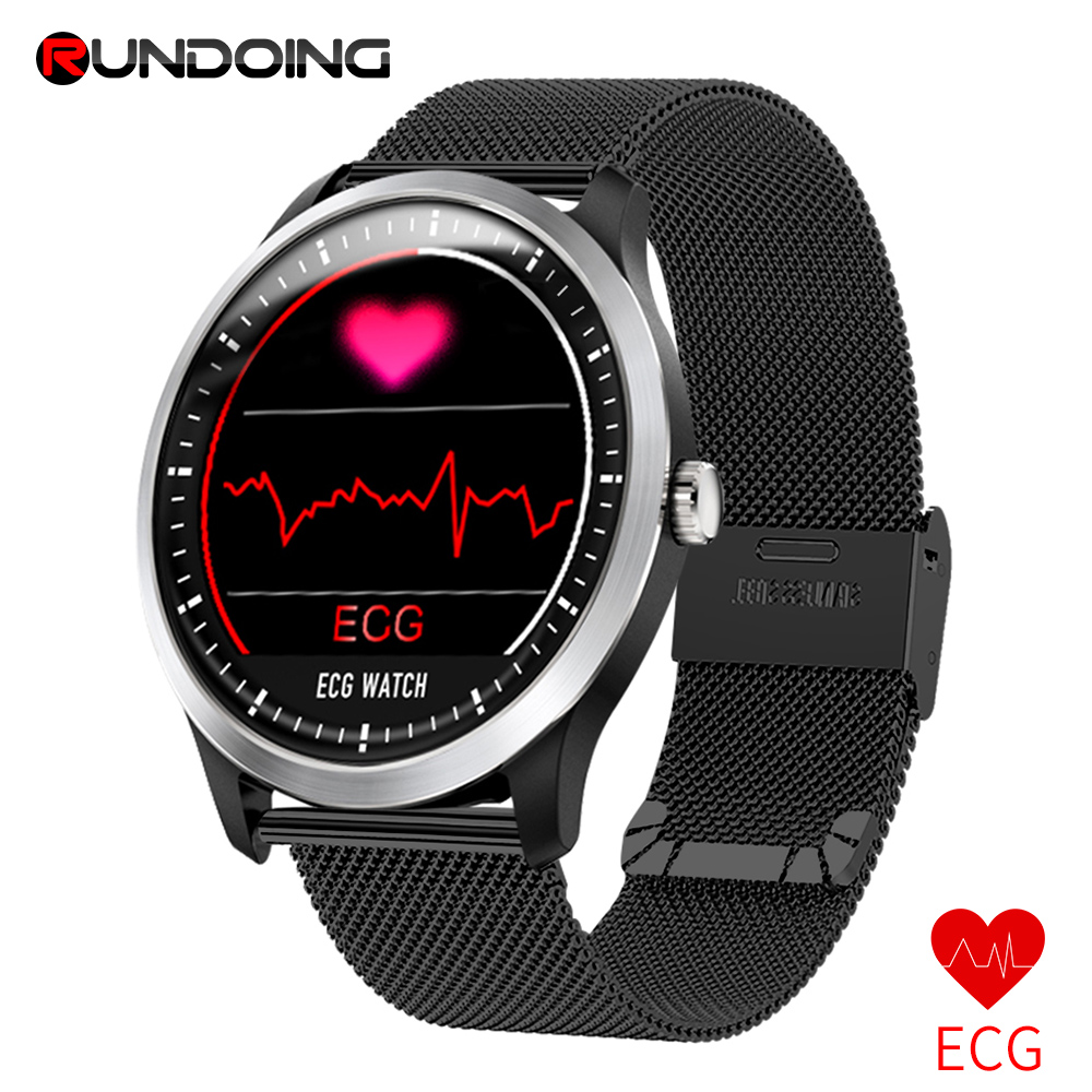 RUNDOING N58 ECG PPG smart watch with electrocardiograph ecg display holter ecg heart rate monitor blood pressure smartwatch new garmin watch 2019