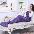 90*180 cm de Hilo de Punto de Los Niños Bolsas de Dormir cosplay Cola de Sirena Manta Manta de Ganchillo Hecho A Mano cosplay Cola de Sirena