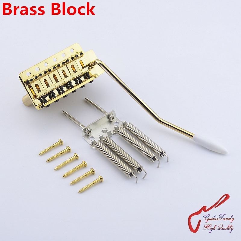 1 Set GuitarFamily Gold Vintage Type Electric Guitar Tremolo System Bridge  With Brass Block  ( #1168 ) MADE IN KOREA магнитола bbk bs15bt white blue