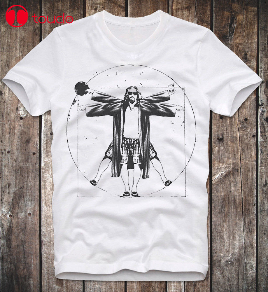 T Shirt The Big Lebowski The Dude Cult Movie Kultfilm Coen Brothers Da Vinci Man Casual Short Slove Sweatshirt image