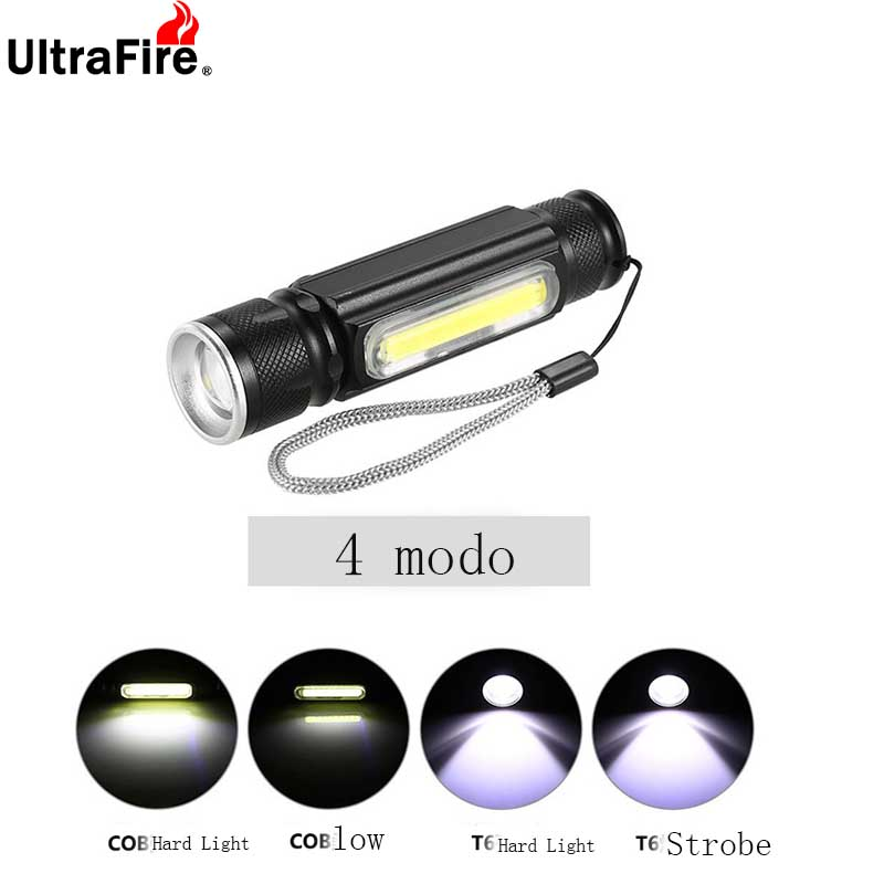 USB COB LED Work Light Telescopic Flashlight Charging 18650 Flashlight Torch Light Flash Light Magnetic Headlight Flashlight Tac