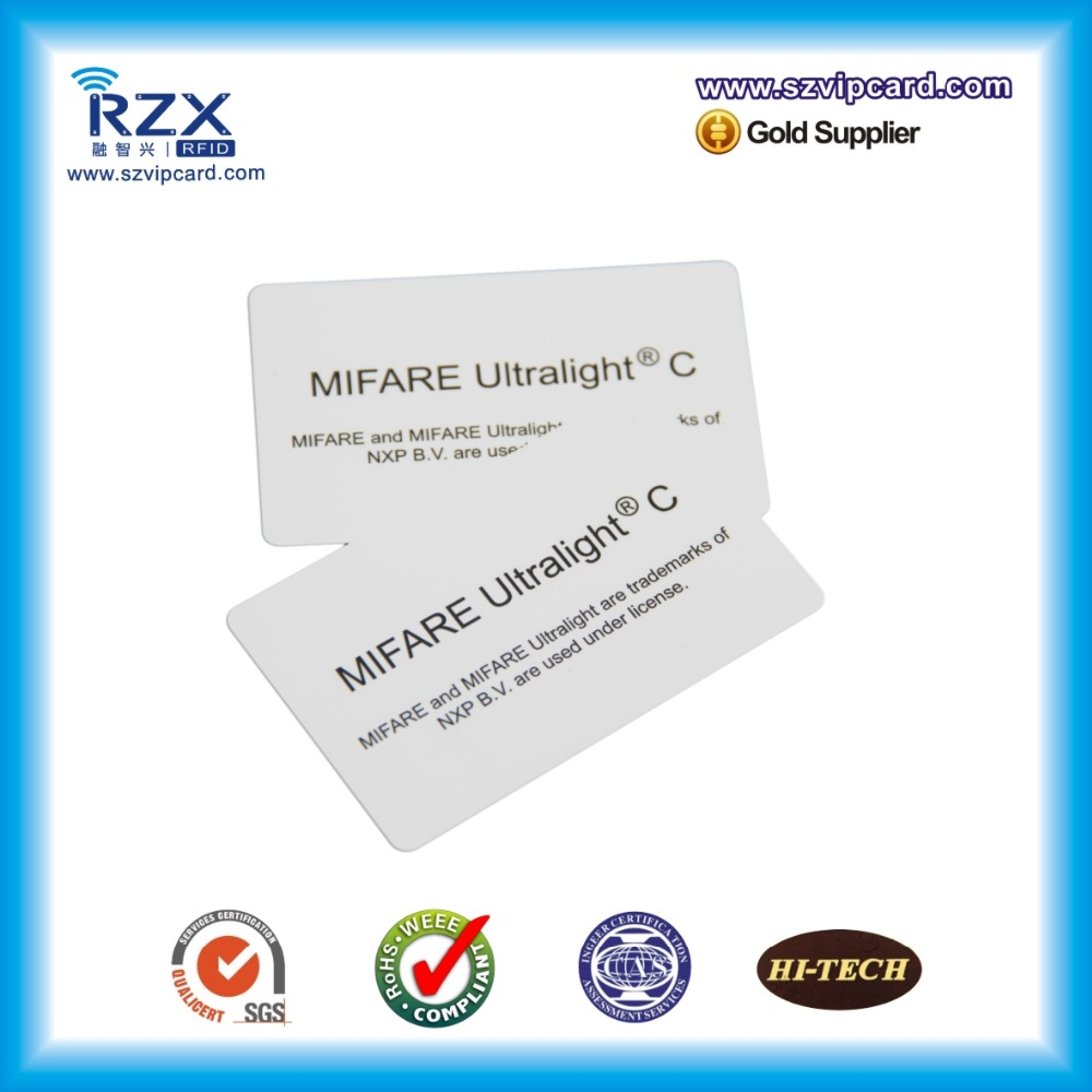 Free shipping 20PCS RFID 13.56Mhz blank card MIFARE Ultralight C blank card for Fargo printer 100pcs lot printable pvc blank white card no chip for epson canon inkjet printer suitbale portrait member pos system
