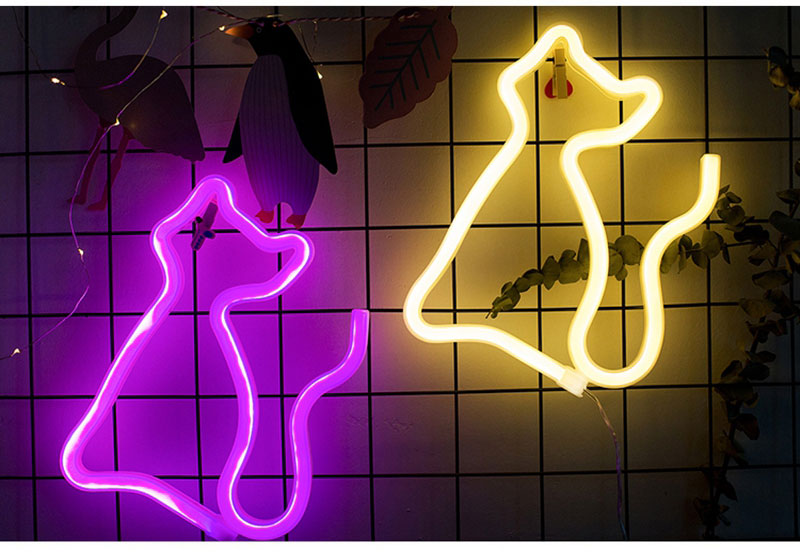 Colorful LED Neon Light Sign Wall Decor Lamp for Xmas Birthday Wedding Party Kids Room Living Room Wall Hanging Decor Lighting (6)
