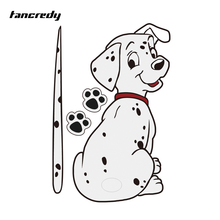 Tancredy Cartoon Funny Moving Tail Dalmatian Dog Sticker Reflective Car Stickers Car Styling Rear Window Windshield Wiper Decals