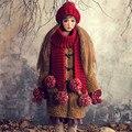 Шапка и Шарф и Перчатки Костюм Милые Женщины Зима Теплая 100% Ручной Шапка Шапки Подарок