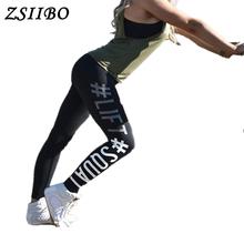 ZSIIBO Women Push Up Leggings Polyester Fitness Legging Large Size Black Slim Jeggings High Waist Leggings