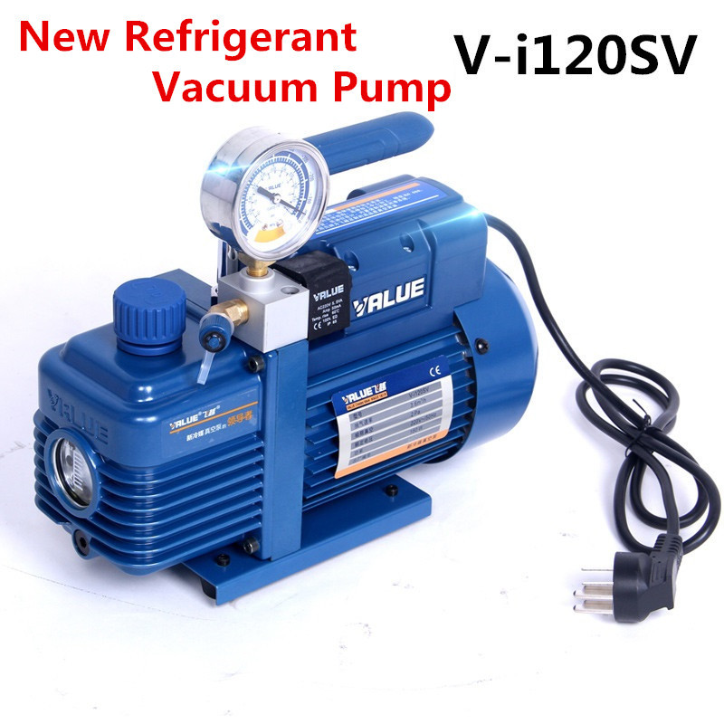 220V 180W V-i120SV New Refrigerant Vacuum Pump Air Conditioning Pump Vacuum Pump For R410A, R407C, R134a, R12, R22 220v 180w v i120sv new refrigerant vacuum pump air conditioning pump vacuum pump for r410a r407c r134a r12 r22