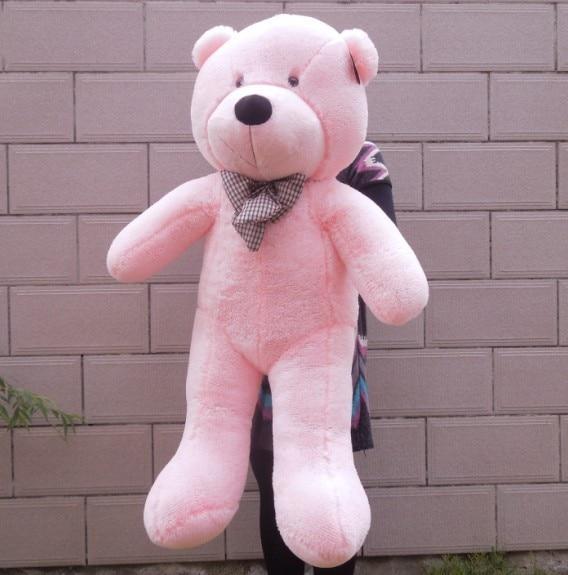 Гигантский большие белый/светло-коричневый/темно-коричневый/розовый плюшевый мишка 100 см плюшевый мишка игрушки готовой кукла - Высота: 1m pink color