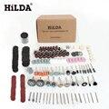 Hilda 248 pcs acessórios ferramenta rotativa para fácil corte moagem lixar talha e polimento ferramenta de combinação para hilda dremel
