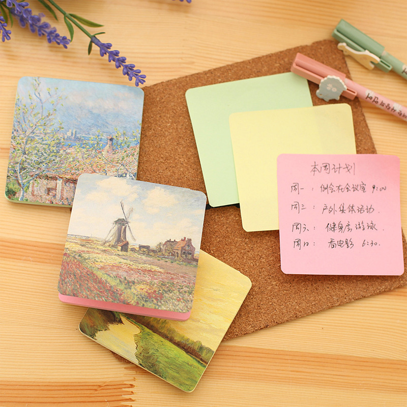 Kawaii Flower Memo Pad Writing Pads Cute Garland Post It Note Sticky Paper For Kids School Supplies Novelty Stationery