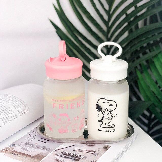 Cartoon Glass Water Bottle with Tea Infuser 2
