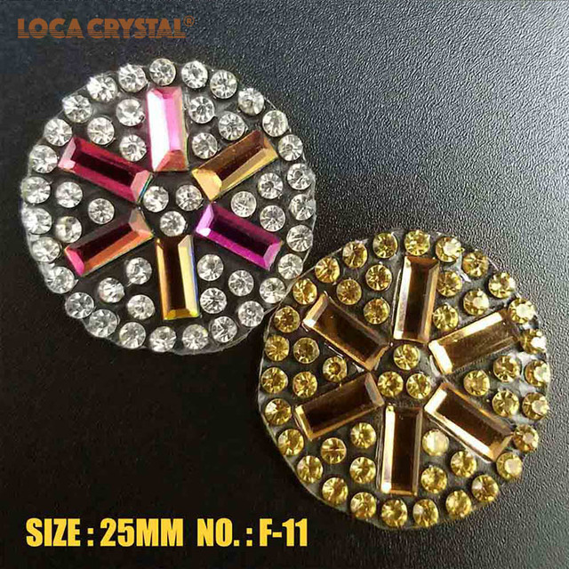 25mm Size Mobile Phone Decoration Clear Rhinestone Applique Iron On Strass Patch  LOCACRYSTAL 5060f7bedafb