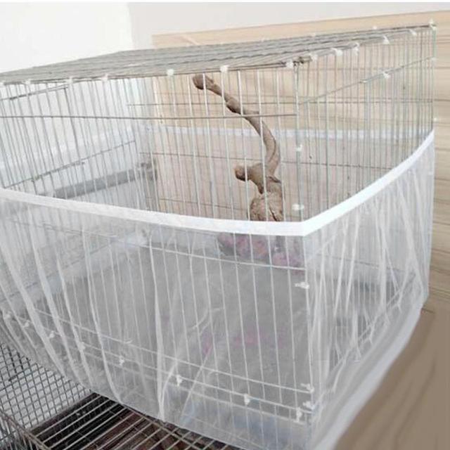Nylon Mesh Bird Cover Soft Easy Cleaning Nylon Airy Fabric Mesh Bird Cage Cover Catcher Bird 3